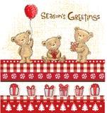 Weihnachtsgeschenke und Weihnachtsverzierungen lizenzfreie abbildung