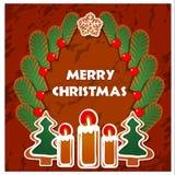 Weihnachtsgeschenke von den Rotwild Stockfoto
