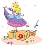Weihnachtsgeschenke zur kleinen Prinzessin. Lizenzfreies Stockbild