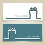 Weihnachtsgeschenkfahnen Stockfotos