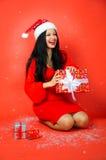 Weihnachtsgeschenkfreude Stockbild