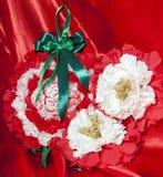 Weihnachtsgeschenkhandwerk diy Stockbilder
