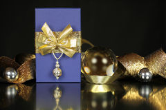 Weihnachtsgeschenkhintergrund Lizenzfreie Stockfotos