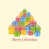 Weihnachtsgeschenkikone vektor abbildung