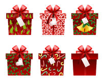 Weihnachtsgeschenkikonen Lizenzfreie Stockfotografie