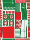 Weihnachtsgeschenkkästen Stockbild