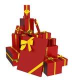 Weihnachtsgeschenkkästen Lizenzfreies Stockfoto