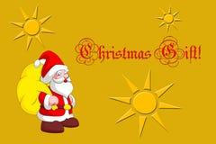 Weihnachtsgeschenkkarte stockbild