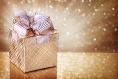 Weihnachtsgeschenkkasten Stockfotografie