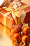 Weihnachtsgeschenkkasten Stockfotos
