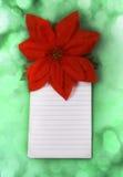 Weihnachtsgeschenkliste stockbilder