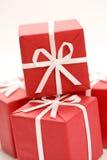 Weihnachtsgeschenknahaufnahme Stockfotografie