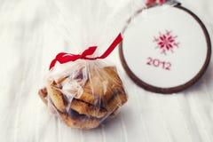 Weihnachtsgeschenkpaket. Stockfotografie