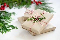 Weihnachtsgeschenkstapel Stockfotografie