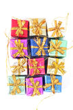 Weihnachtsgeschenkverzierungen Lizenzfreies Stockbild