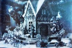 Weihnachtsgeschichte, guten Rutsch ins Neue Jahr Stockfoto