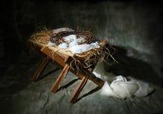 Weihnachtsgeschichte-Metapher Stockfotos