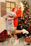 Weihnachtsgeschichte oder -traum im Weihnachten Lizenzfreie Stockfotografie