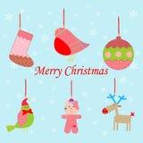 Weihnachtsgesetzte Ikonen Stockfotografie