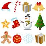 Weihnachtsgesetzter Vektor Lizenzfreie Stockfotografie