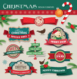 Weihnachtsgestaltungselemente Stockfoto