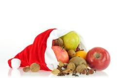 Weihnachtsgesunde Nahrung Stockbild