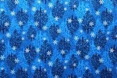 Weihnachtsgewebehintergrund Stockfoto
