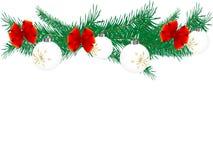 Weihnachtsgirlande Lizenzfreies Stockfoto