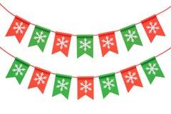 Weihnachtsgirlande getrennt auf weißem Hintergrund Stockfoto