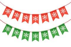 Weihnachtsgirlande getrennt auf weißem Hintergrund Lizenzfreies Stockfoto