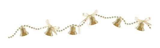 Weihnachtsgirlande mit Glocken und Bögen Stockfotos