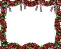 Weihnachtsgirlandehintergrund oder -rand Stockfotografie
