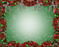Weihnachtsgirlandehintergrund oder -rand Lizenzfreie Stockbilder