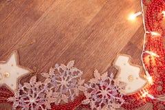 Weihnachtsgirlandenlichter Lizenzfreie Stockfotos
