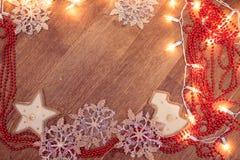 Weihnachtsgirlandenlichter Stockfotografie