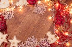 Weihnachtsgirlandenlichter Lizenzfreies Stockbild
