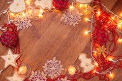 Weihnachtsgirlandenlichter Lizenzfreie Stockfotografie