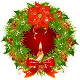 Weihnachtsgirlandevektorspant 3 Lizenzfreies Stockbild