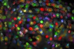 Weihnachtsglänzender Hintergrund mit Lichtern Stockfotos