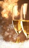 Weihnachtsgläser von Champagne Stockfotografie
