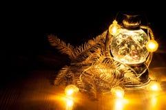Weihnachtsglühende Girlande Lizenzfreies Stockbild