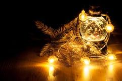 Weihnachtsglühende Girlande Lizenzfreie Stockfotografie