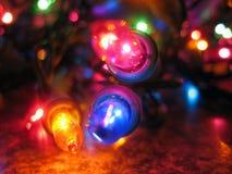 Weihnachtsglühlampen Stockbild