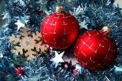 Weihnachtsglaskugel Stockfotos