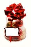 Weihnachtsglocke mit Zeichenplatz stockbild