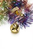 Weihnachtsglocke und Randdekorationen lizenzfreie stockbilder