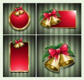 Weihnachtsglocken-Fahnenset. Lizenzfreie Stockfotografie
