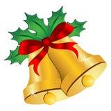 Weihnachtsglocken mit Bogen lizenzfreie abbildung