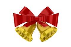Weihnachtsglocken mit rotem Farbband lizenzfreie abbildung