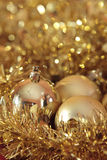 Weihnachtsgold Stockfoto